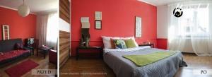 1. sypialnia siemce przed i po